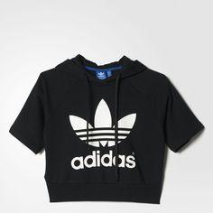 adidas Womens French Terry Acid-Wash Crewneck Sweatshirt