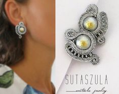 Soutache earrings necklaces and bracelets. por sutaszula en Etsy