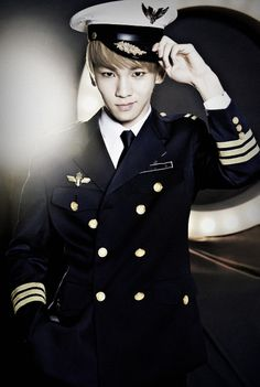 SHINee - Key. Why, yes Captain. Whatever you say ;) | ok, I want to put up pictures of all the SHINee members on my wall but, I will feel that Key will judge me everytime i step into the room... I love his just as much as the others tho!!!