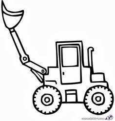 Baustellenfahrzeuge ausmalbilder  ausmalbilder bagger 09 | ausmalbilder | Pinterest | Ausmalbilder ...