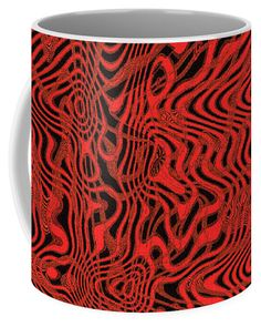 Chainfruit Cholla Fruit Abstract #5 Coffee Mug featuring the digital art Chainfruit Cholla Fruit Abstract #5 by Tom Janca