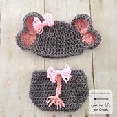 Ravelry: Newborn Elephant Hat and Diaper Cover pattern by Heather Johnson of Heatherpj