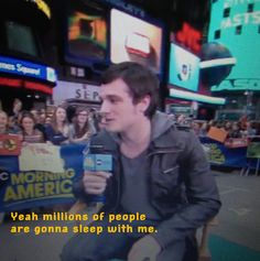 Josh talking about being on a pillow case. This is true josh, I sleep with 2 of you and 4 of you around me (pillowcase, blanket, cutout, posters)