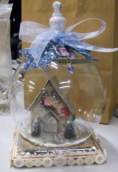 snow globe house