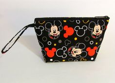 Mickey Mouse Heads Make Up Bag Accessory by DesignsByDragonLily