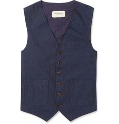 Oliver Spencer Slim-Fit Linen and Cotton Waistcoat | MR PORTER