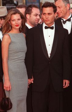 Kate Moss and Johnny Depp arrive at the Cannes Film Festival in the late '90s.