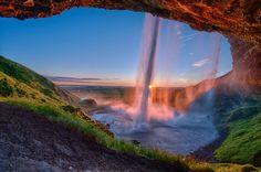 Водопад Сельяландсфосс, Исландия