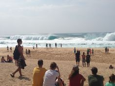So fun to watch the big waves (and surfers) at Pipeline on the North Shore of Oahu
