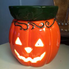 Scentsy Jack O'Lantern Candle Warmer Candle Lanterns, Candles, Candle Warmer, Wax Warmers, Scentsy, Pumpkin Carving, Sculpting, Fall Decorations, Halloween Halloween