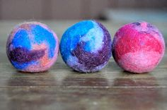 DIY Dryer Balls. I am tired of buying dryer sheets. Going to make these instead!