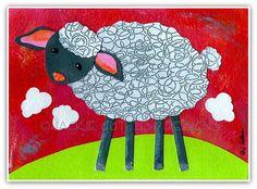 66 Ideas animal art projects for kids farm for 2019 Farm Nursery, Nursery Art, Sheep Paintings, Concept Art Tutorial, Kindergarten Art Projects, Animal Art Projects, Sheep Art, Pop Art Wallpaper, Farm Art