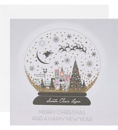 BOXED CARDS Merry Christmas snowglobe six cards