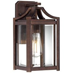 Franklin Iron Works Rustic Farmhouse Outdoor Wall Light Fixture Bronze 16 Clear Beveled Glass for Exterior House Porch Patio Outdoor Wall Light Fixtures, Outdoor Wall Sconce, Outdoor Wall Lighting, Outdoor Walls, Lighting Ideas, Backyard Lighting, Lighting Design, Contemporary Outdoor Lighting, Outdoor Lighting Landscape