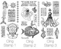 Voyage Beneath the Sea Cling Stamps #graphic45 #sneakpeeks
