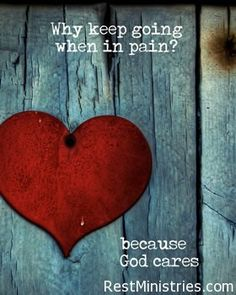 When we are in pain, God's love may be the last thing we reflect on, because if He loves us, why are we suffering? We may not always understand his love for