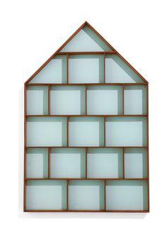 Home Improvement Systematic 1 Pc Storage Rack Wall-mounted Creative Triangle Fan Shape Wooden Decorative Sundries Organizer Bookshelf Corner Shelf Bright In Colour