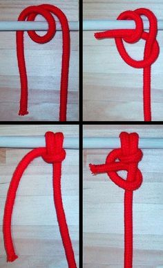 Anchor bend step by step, with a finishing half hitch.