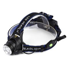 ICOCO Headlamp Headlight XM-L T6 LED Adjustable Focus Zoomable Night Torch for Hiking Riding Camping Climbing Hunting 2000 Lumens Powered By 2 x 18650 Battery >>> You can get more details by clicking on the image.