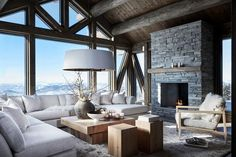 Outdoor Rooms In Swedish Mountains Cute Living Room, Classy Living Room, Boho Living Room, Beautiful Living Rooms, Living Room Decor, Mountain House Decor, Modern Mountain Home, Mountain Cabins, Modern Cabin Interior