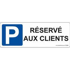 """Panneau """"Parking Réservé Aux Hôtes """""""