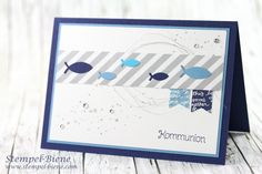 kommunionskarte für Jungs; Einladungskarten Kommunion; Stampin up Kommunion; Stampin up Kommunionskarte; STampin up Segenswüsche; Kommunionsworkshop; Stempel-Biene; Stampin up Demonstratorin