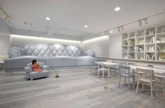 Mothers needn't worry about bringing their babies to the Tokyo Baby Cafe. The theme restaurant offers private nursing areas, super-sized playrooms and baby-proofed decor.