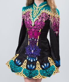 """This gorgeous dress was made for Oireachtas 2016 and is covered in genuine Swarovski crystals. There is six inches of let out in the chest (3"""" on each side"""