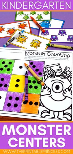 Welcome back students to the new school year with these adorable Monster themed math and literacy centers. Teach and reinforce centers with no prep letter recognition, letter sounds, counting practice, number writing, subitizing and more! Subitizing Activities, Kindergarten Math Activities, Counting Activities, Alphabet Activities, Kindergarten Classroom, Classroom Ideas, First Grade Teachers, New Teachers, Teaching Numbers