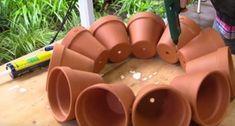 DIY Succulent Clay Pot Planter Sphere Garden Art: Terracotta Flower Pot into Whimsical Garden Decoration for planting multiple plants together. Plant Crafts, Clay Pot Crafts, Garden Crafts, Garden Projects, Diy Crafts, Pots D'argile, Clay Pots, Planter Pots, Succulent Pots