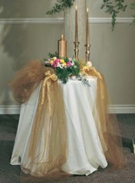 Decorating With Tulle For Centerpiece   Tulle Wedding Decorations Examples: