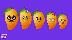 The Finger Family Mango Family Nursery Rhyme Baby Finger Song, Finger Family Song, Family Songs, Abc Songs, Kids Songs, Rhymes For Toddlers, Phonics Song, Kids Nursery Rhymes, Alphabet
