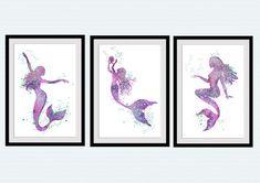 Unicorn poster Set of 3 Play with fairies print Mermaid wall art Playroom decoration Unicorn wall decor KIds room wall art Nursery decor Mermaid Poster, Unicorn Poster, Unicorn Wall, Mermaid Art, Mermaid Prints, Playroom Decor, Nursery Wall Decor, Nursery Art, Mermaid Wall Decor