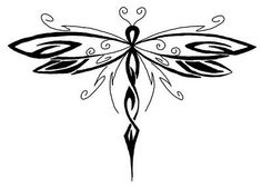 Tribal Dragonfly Drawing