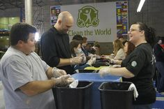 MLK Day in Central Florida, Allies and Starbuck employees recycle soap
