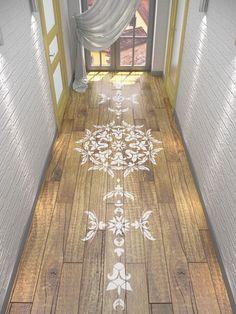 Floor Stencil . Mandala Design