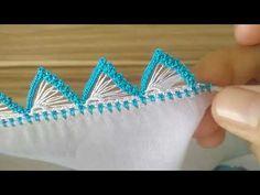 EN FAVORİ KALEM OYASI 💙 - YouTube Owl Embroidery, Hand Embroidery Videos, Hand Embroidery Flowers, Hand Work Embroidery, Hand Embroidery Designs, Embroidery Patterns, Crochet Borders, Crochet Motif, Crochet Flowers