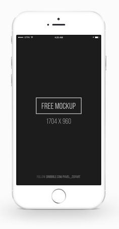 50 Free iPhone 6 and iPhone 6 Plus Mockups (PSD, AI & Sketch) - 28 #iphone6 #iphone6mockup #iphone6plus #appleiphone6 #psdmockup #graphicdesign