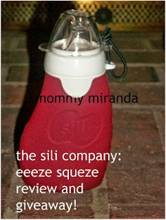 Read my review and enter to win an awesome reusable food pouch from @The Sili Company and Mommy Miranda!
