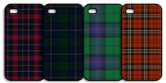 Tartan i-phone covers. $29.00 each. Choose between 4 classic tartans. The Fuller Collection