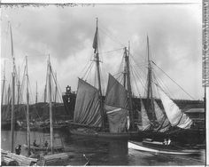 Schooners, Glace Bay harbour, Cape Breton, NS, about 1914