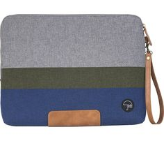 PKG - Slouch Laptop Sleeve - Blue/Green/Gray - Front Zoom