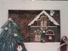 cuadrito para decorar la casa.Madera y tela, pintado a mano.