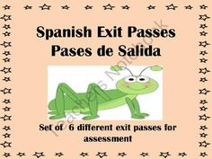 Spanish Exit Passes-Pases de Salida from Spanish Classroom on TeachersNotebook.com (7 pages)