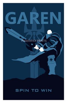 Garen: League of Legends of Print por pharafax en Etsy