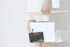 LOVE AESTHETICS   by Ivania Carpio: D I Y / Clear Bag With Copper Handles
