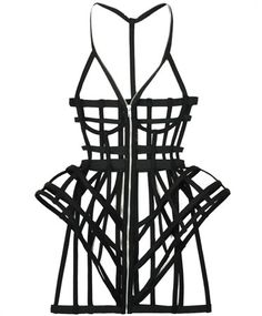 Black Full Cage Dress