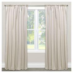 "Shantung Blackout Curtain Panel Cream (Ivory) (50""x120"") - Skyline Furniture"