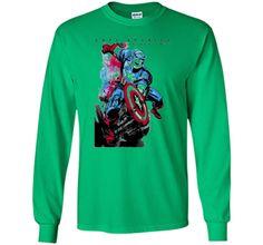 Marvel Captain America Avengers Watercolor Graphic T-Shirt