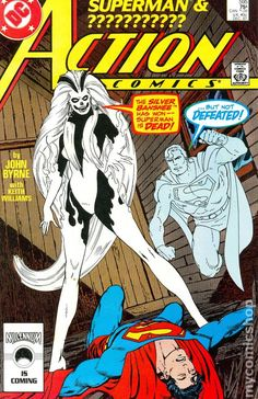 This issue features the first appearance of Silver Banshee as told by John Byrne! A great issue and a must have for any Silver Banshee or Superman Fan! Comic Books For Sale, Comics For Sale, Dc Comic Books, Comic Book Covers, Superman Action Comics, Superman 1, Marvel Comics, Batman, Enchantress Dc Comics